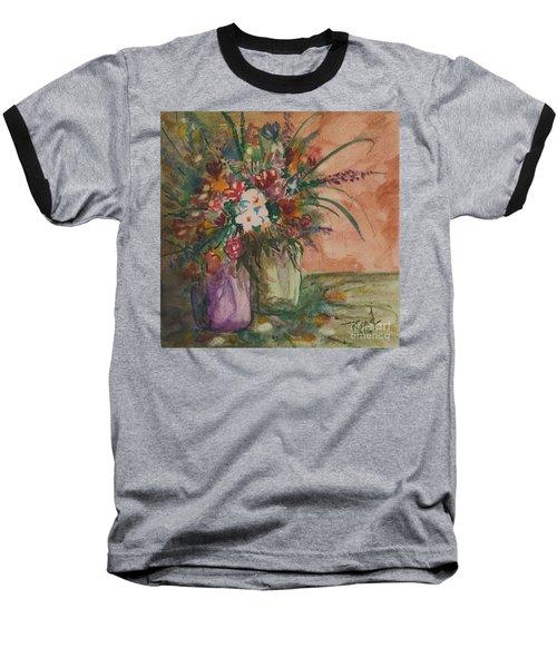 Flowers In Vases 2 Baseball T-Shirt