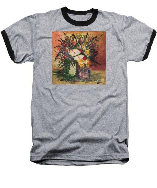 Flowers In Vases Baseball T-Shirt