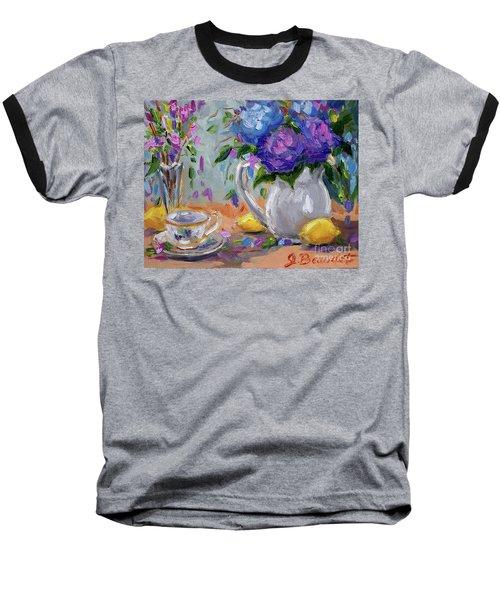 Flowers Lemons Baseball T-Shirt