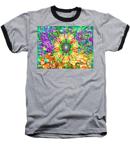 Flowers Mandala Baseball T-Shirt
