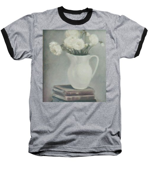 Flowers On Old Books Baseball T-Shirt