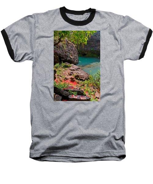 Flowers On Stone Baseball T-Shirt