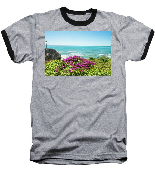 Flowers On The Cliff Baseball T-Shirt