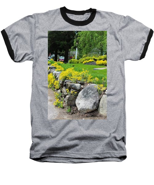 Flowers On The Wall Baseball T-Shirt