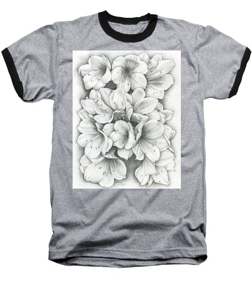 Clivia Flowers Pencil Baseball T-Shirt
