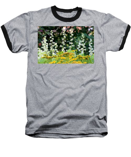 Flowers Sparkling Above The Tansies Baseball T-Shirt