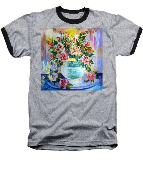 Flowers Still Life  Baseball T-Shirt