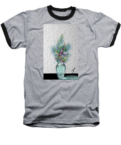 Baseball T-Shirt featuring the digital art Flowers Study Two by Darren Cannell