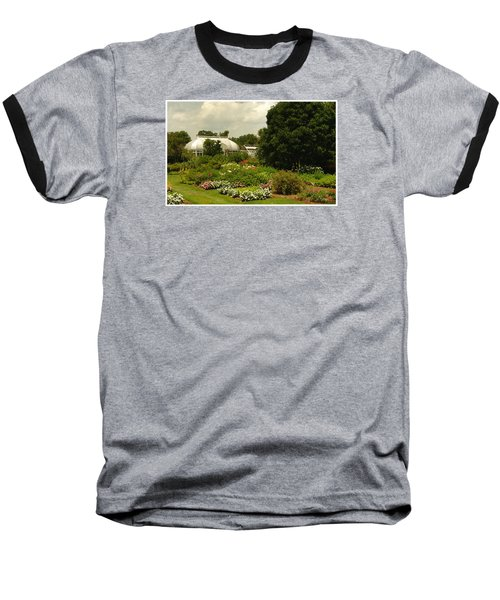 Baseball T-Shirt featuring the photograph Flowers Under The Clouds by James C Thomas