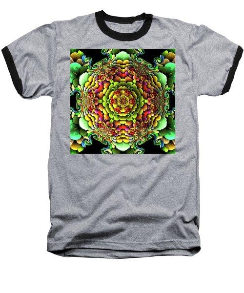 Baseball T-Shirt featuring the digital art Flowerscales 61 by Robert Thalmeier