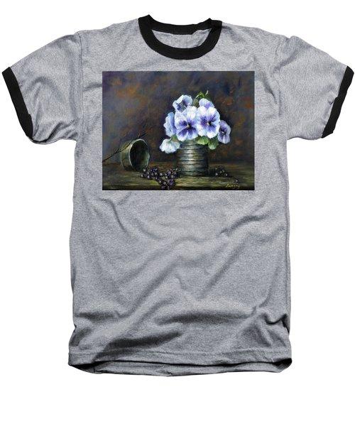 Flowers,pansies Still Life Baseball T-Shirt