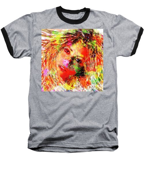 Flowery Shakira Baseball T-Shirt