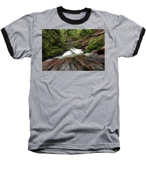 Flowing Downstream Waterfall Art By Kaylyn Franks Baseball T-Shirt