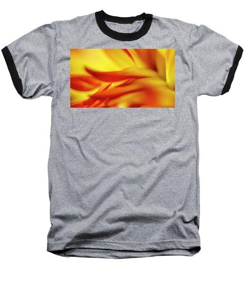 Flowing Floral Fire Baseball T-Shirt by Tony Locke