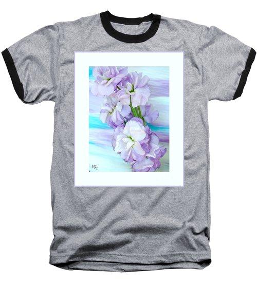 Fluffy Flowers Baseball T-Shirt by Marsha Heiken