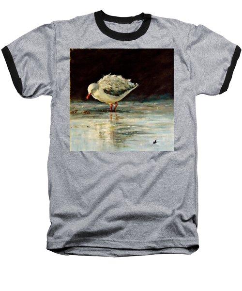 Baseball T-Shirt featuring the painting Fluffy Jonathan.. by Cristina Mihailescu