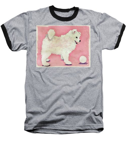 Fluffy Pup Baseball T-Shirt