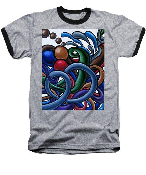 Colorful Abstract Art Painting Chromatic Water Artwork Baseball T-Shirt