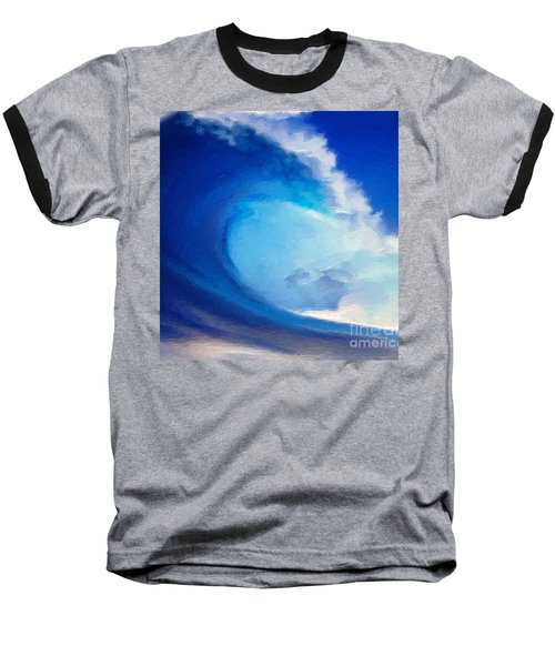 Baseball T-Shirt featuring the digital art Fluid by Anthony Fishburne