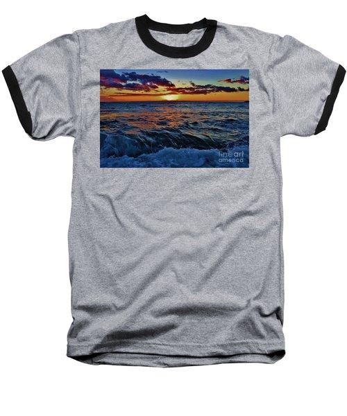 Fluid Sunset Baseball T-Shirt