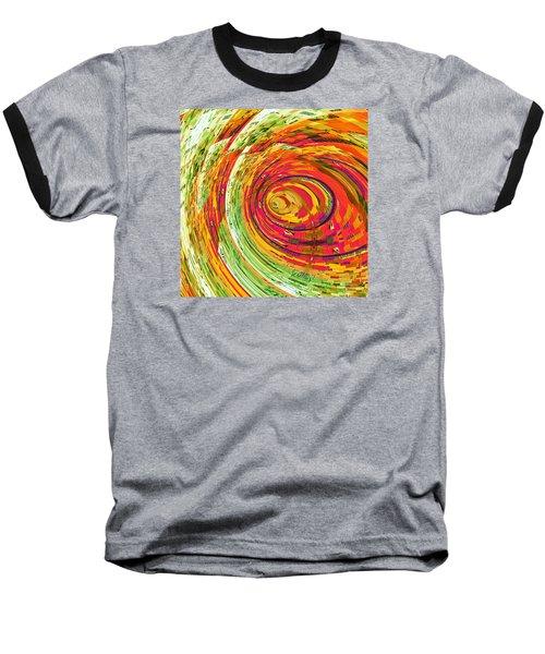 Fluorescent Wormhole Baseball T-Shirt by Shawna Rowe