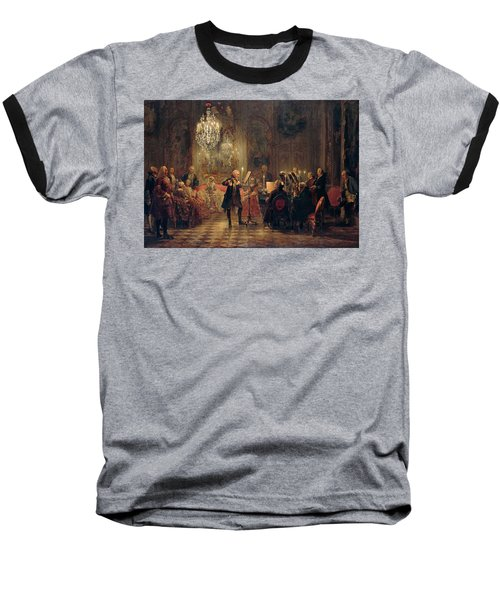 Flute Concert With Frederick The Great In Sanssouci Baseball T-Shirt by Adolph Menzel