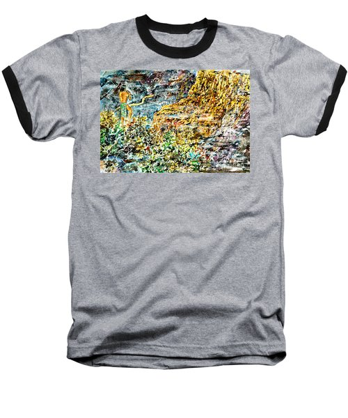 Baseball T-Shirt featuring the painting Flutes Breath by Alfred Motzer