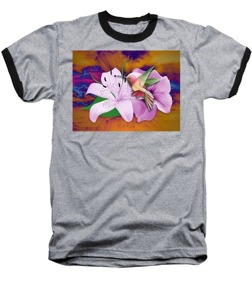 Baseball T-Shirt featuring the mixed media Fluttering by Marvin Blaine