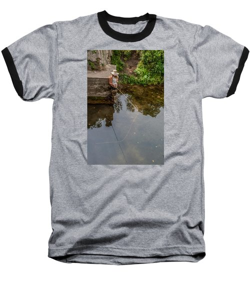 Fly Fisher Gal Baseball T-Shirt by Dan Traun