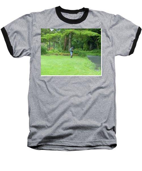 Fly Fishing On Trout Run Creek Baseball T-Shirt