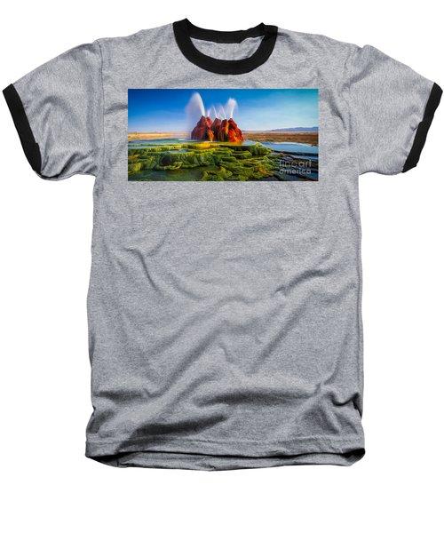 Fly Geyser Panorama Baseball T-Shirt