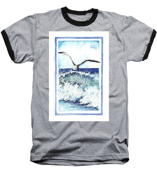 Baseball T-Shirt featuring the painting Fly High by Heidi Kriel
