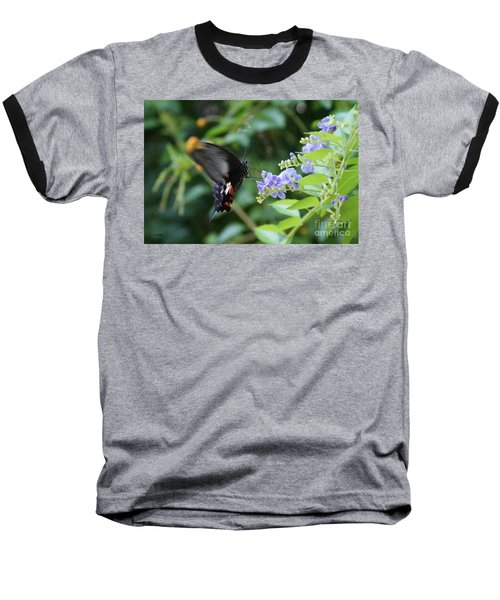 Fly In Butterfly Baseball T-Shirt