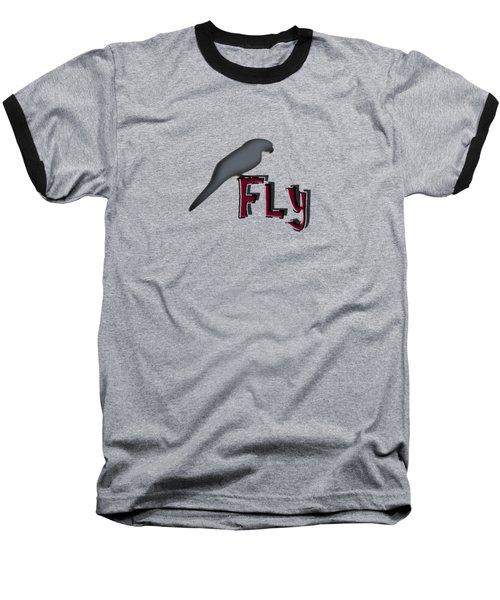 Baseball T-Shirt featuring the digital art Fly by Mim White