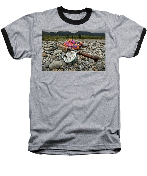 Fly Rod And Streamers Landscape Baseball T-Shirt