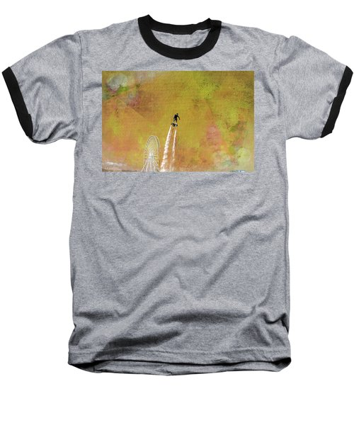 Flyboard, Sketchy And Painterly Baseball T-Shirt