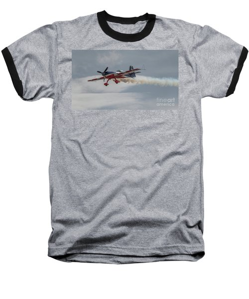 Flying Acrobatic Plane Baseball T-Shirt