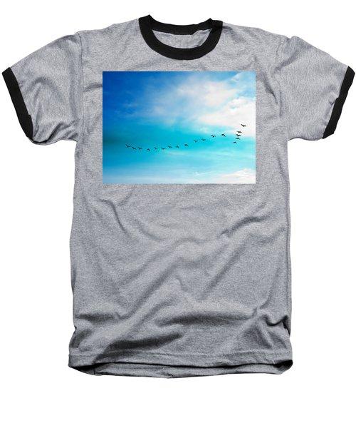 Flying Away Baseball T-Shirt by Jose Rojas