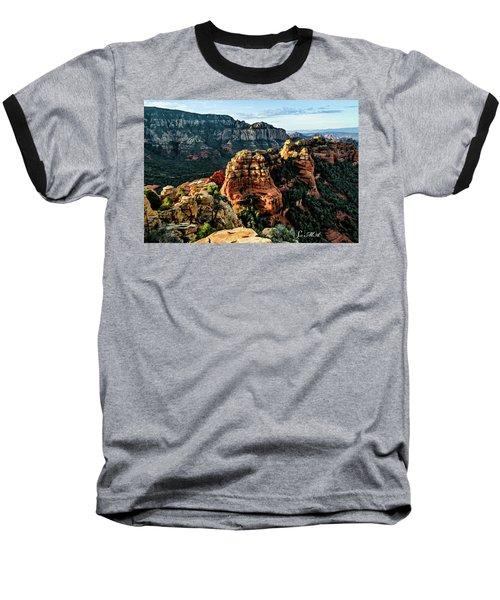 Flying Buttress 04-227 Baseball T-Shirt by Scott McAllister