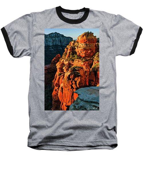 Flying Buttress 06-034 Baseball T-Shirt by Scott McAllister