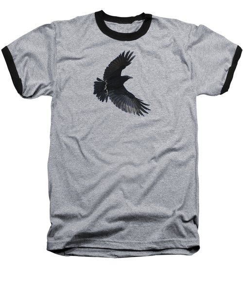 Baseball T-Shirt featuring the photograph Flying Crow by Bradford Martin