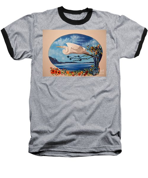 Flying Egret Baseball T-Shirt