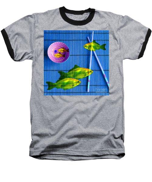 Flying Fish And The Pink Moon Baseball T-Shirt