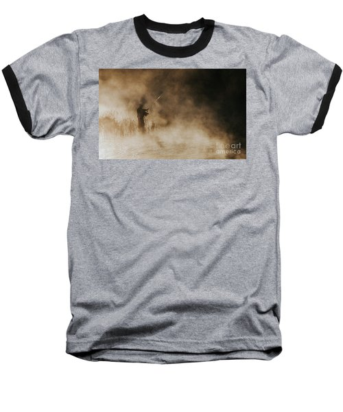 Flying Fishing Baseball T-Shirt