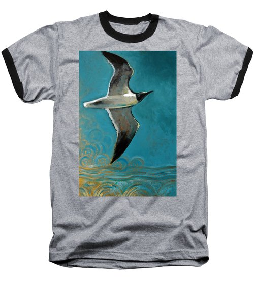 Flying Free Baseball T-Shirt by Suzanne McKee