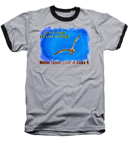 Flying Gull Baseball T-Shirt by John M Bailey