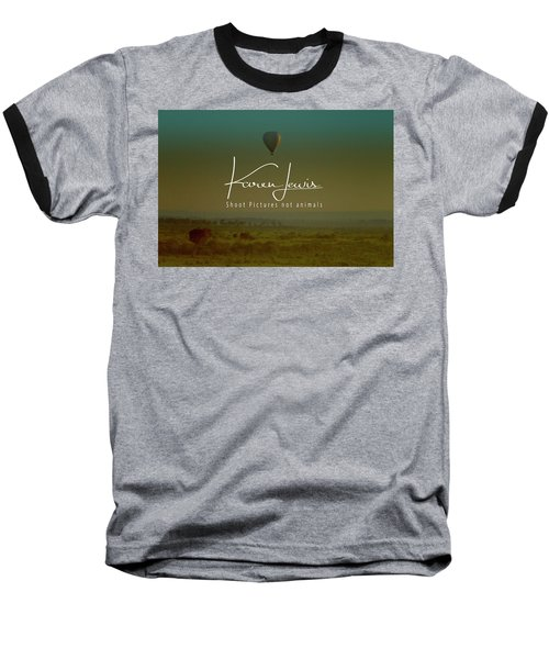 Baseball T-Shirt featuring the photograph Flying High On The Masai Mara by Karen Lewis