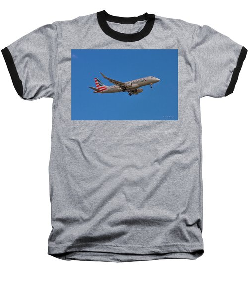 Flying In American Eagle Embraer 175 N426yx Baseball T-Shirt