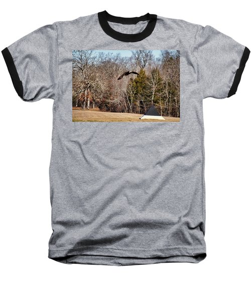 Flying Over Cloud Field Baseball T-Shirt by TnBackroadsPhotos