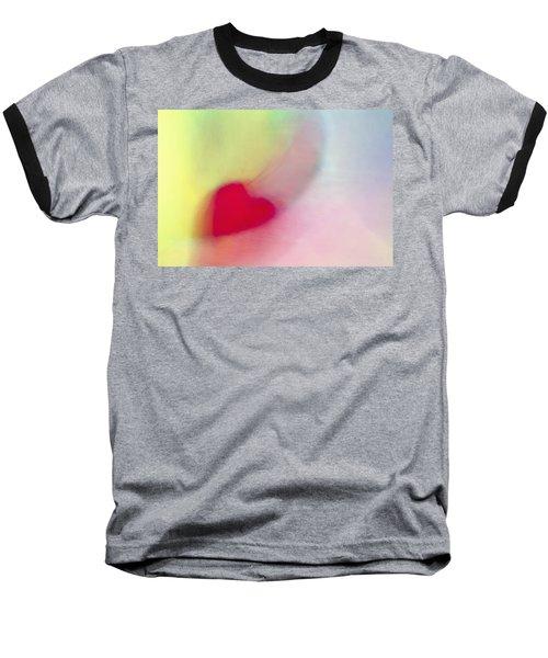 Flying Red Heart Baseball T-Shirt